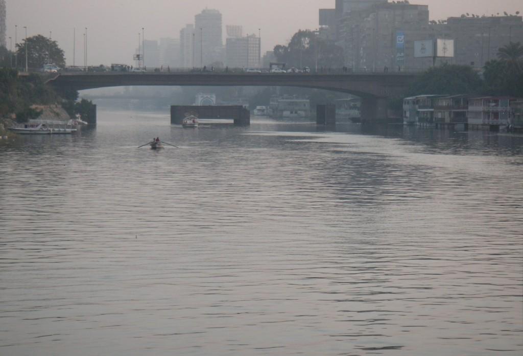Utsikten från husbåten på Nilen. Foto: Marie E Grusell.